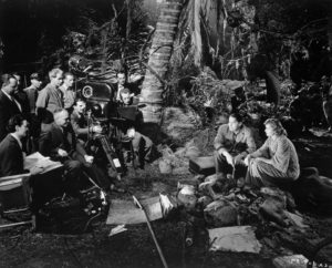Behind the scenes during the filming of Five Came Back