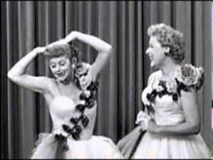 Lucy and Ethel perform 'Friendship' - both wearing the same dress - in Lucy and Ethel Buy the Same Dress - I Love Lucy
