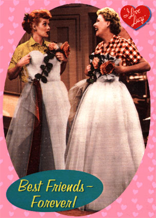 Colorized photo from Lucy and Ethel buy the same dress