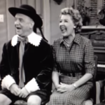 """Lucy, Fred, Ethel, and Ricky singing """"Tippy Tippy Toe"""" - led by Hans Conreid"""