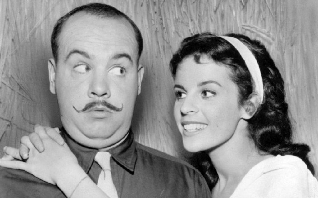Publicity photo of Claudine Longet and Tim Conway from McHale's Navy (1963)