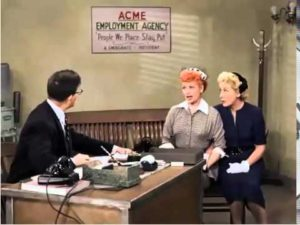 Lucy and Ethel at the Employment Agency