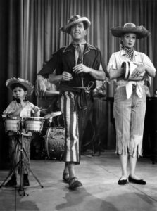 Little Ricky, Ricky Ricardo/Desi Arnaz, and Lucy/Lucille Ball in Lucy's Ragtime Band