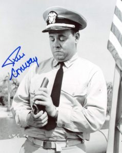 McHale's Navy - Tim Conway looking at the barrel of a live gun
