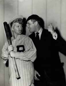 Lucy and Desi as a baseball player and umpire, for the song routine Nobody Loves the Ump - click to buy from Amazon.com