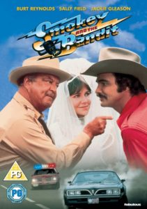 Jackie Gleason with Sally Fields and Burt Reynolds in Smokey and the Bandit