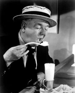 W. C. Fields eating icce cream in Never Give a Sucker an Even Break