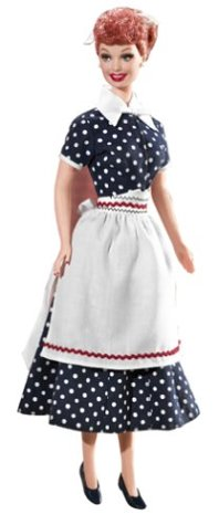 Barbie as Lucy Ricardo / Lucille Ball in the I Love Lucy episode, Sales Resistance