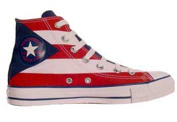image of Converse patriotic flag shoes