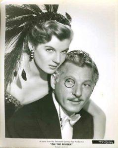 Corrine Calvet and Danny Kaye in On the Riviera